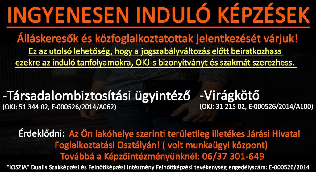 Somogy megye - Ingyenes képzések - Felnőttképzés - felnottkepzes.hu - IOSZIA